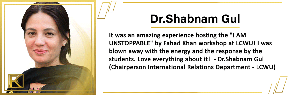 Fahad khan testimonial 1